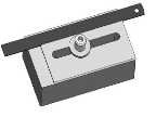 Adjustable stop for serial cutting, For 10-12 mm T-slots