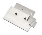 Jaws for quick clamping tools, Grooved. For 10 mm T-slots. Set of 2